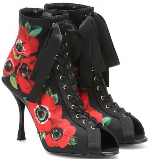 Dolce & Gabbana Bette floral ankle boots