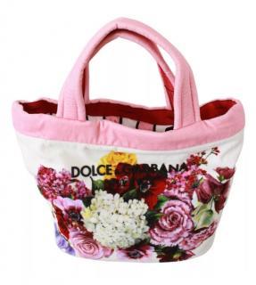 Dolce & Gabbana Pink & White Floral Shopper