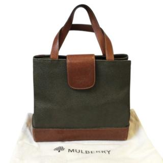 Mulberry Vintage Scotchgrain Tote Bag