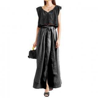 Kalita Black Linen Avedon Days Maxi Skirt