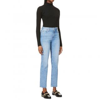 Paige Blue High Rise Sarah Straight Jeans