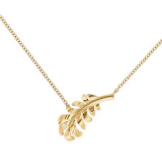 Chanel 18kt Yellow Gold Plume Necklace