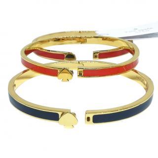 Kate Spade Enamel Spade Stacing Bracelets