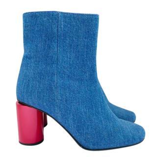 Acne Studios Althea Denim Ankle Boots