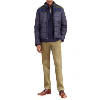 Brooks Brothers Navy & Green Puffer Jacket