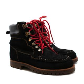 Penelope Chilvers Black Suede Pioneer Lined Boot