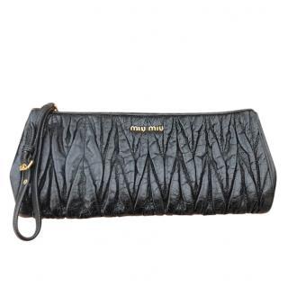 Miu Miu Black Matelasse Clutch Bag