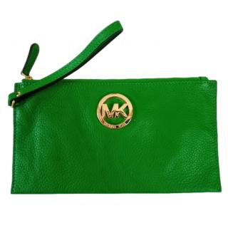 Kors Michael Kors Green Leather Pouch