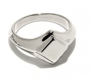 Pamela Love Silver Apex Signet Ring