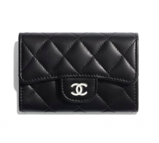 Chanel Black Lambskin Classic Flap Key Holder