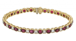 Mappin & Webb Rubies Bracelet with white diamonds