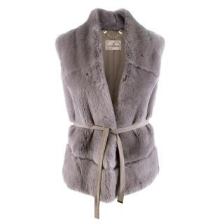 Suprema Grey Rabbit Fur Gilet
