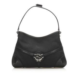 Gucci Reins Canvas & Leather Shoulder Bag