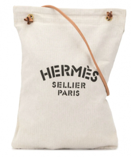 Hermes Chevron Canvas Aline GM Shoulder Bag