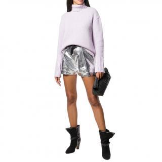 Philosophy di Lorenzo Serafini Lilac Wool & Cashmere Blend Sweater