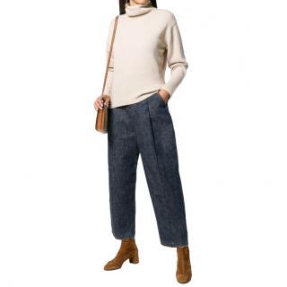 Loewe Mid Blue Denim Carrot Jeans