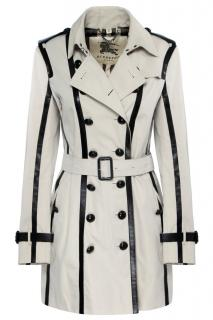 Burberry Leather Trimmed Limited Edition Trench Coat