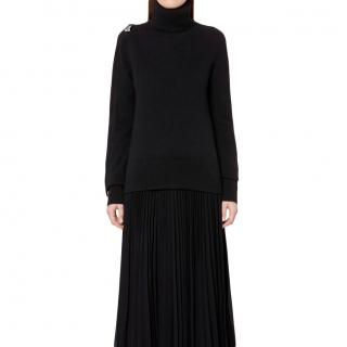 Christopher Kane Black Wool Padlock Sleeve Sweater