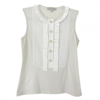 See by Chloe Sleeveless Beige Blouse