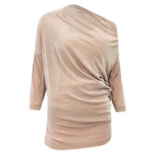 Vivienne Westwood Anglomania Nude Glittery Asymmetric Top