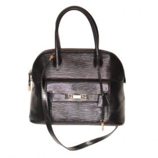 Fendi Black Vintage Leather Peekaboo Bag