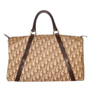 Dior Vintage Oblique Large Boston Bag
