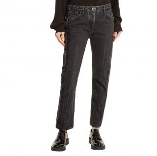 The Row Black Ashland Mid-rise Straight-leg Jeans