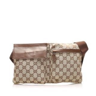 Gucci Vintage Supreme Canvas & Leather Belt Bag