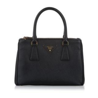 Prada Saffiano Lux Black Galleria Tote Bag