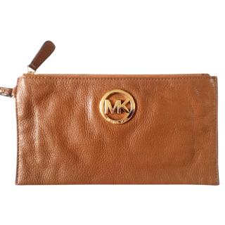 Michael Michael Kors Brown Leather Pouch
