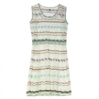 M Missoni Sheer Mint Knit Dress
