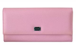 Dolce & Gabbana Pink Saffiano Leather Wallet