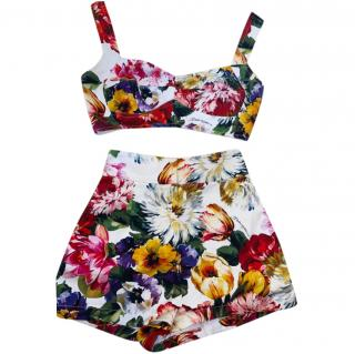 Dolce & Gabbana Floral Print Bralet & Hot Pants