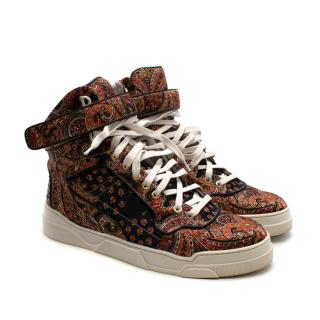 Givenchy Paisley Print High Top Sneakers