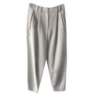 Giorgio Armani Grey Wool Tailored Trousers