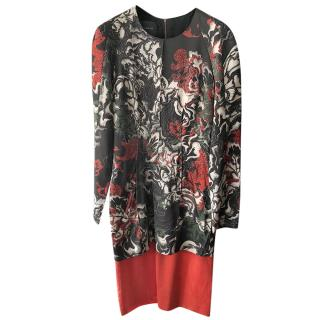 Cedric Charlier Multicoloured Satin Dress