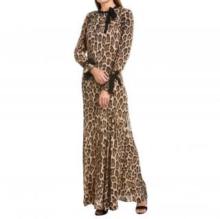 Twin-Set by Simona Babieri Leopard Print Midi Dress