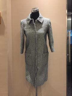 Chanel Black & White Tweed Coat