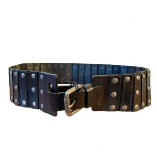 Joseph Black Leather Studded Waist Belt