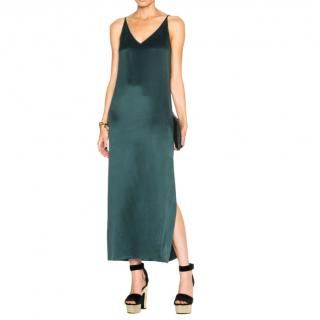 Equipment Green Silk Sandwash Slip Dress