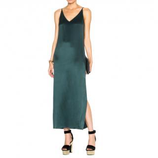 Equipment Green Silk Sandwash Slip Dress