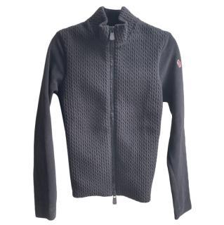 Moncler Black Knit Maglia Cardigan
