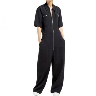 Raey Zip-front wool-twill jumpsuit
