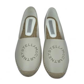 Stella McCartney Ivory Logo Espadrilles