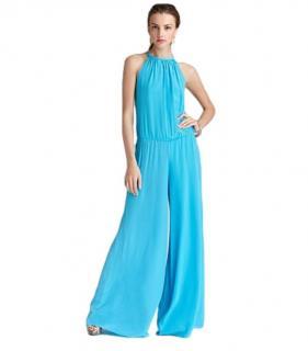 Alexis Blue Silk Halterneck Jumpsuit