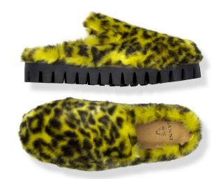 Ganni x Shrimps Yellow Leopard Loafers