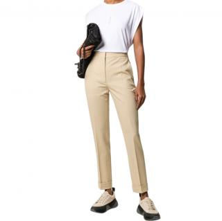 Stella McCartney Beige Tailored High Waist Pants