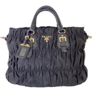 Prada Black Nylon Gauffre Tote Bag