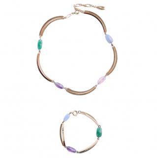 Dior Vintage Gold Plated Crystal  Necklace & Bracelet