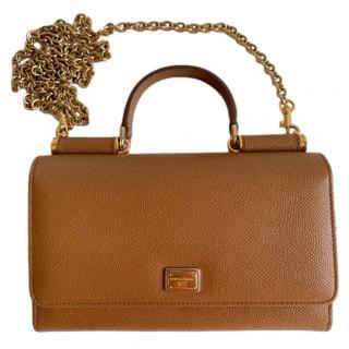 Dolce & Gabbana Saffiano Leather Sicily Von Bag
